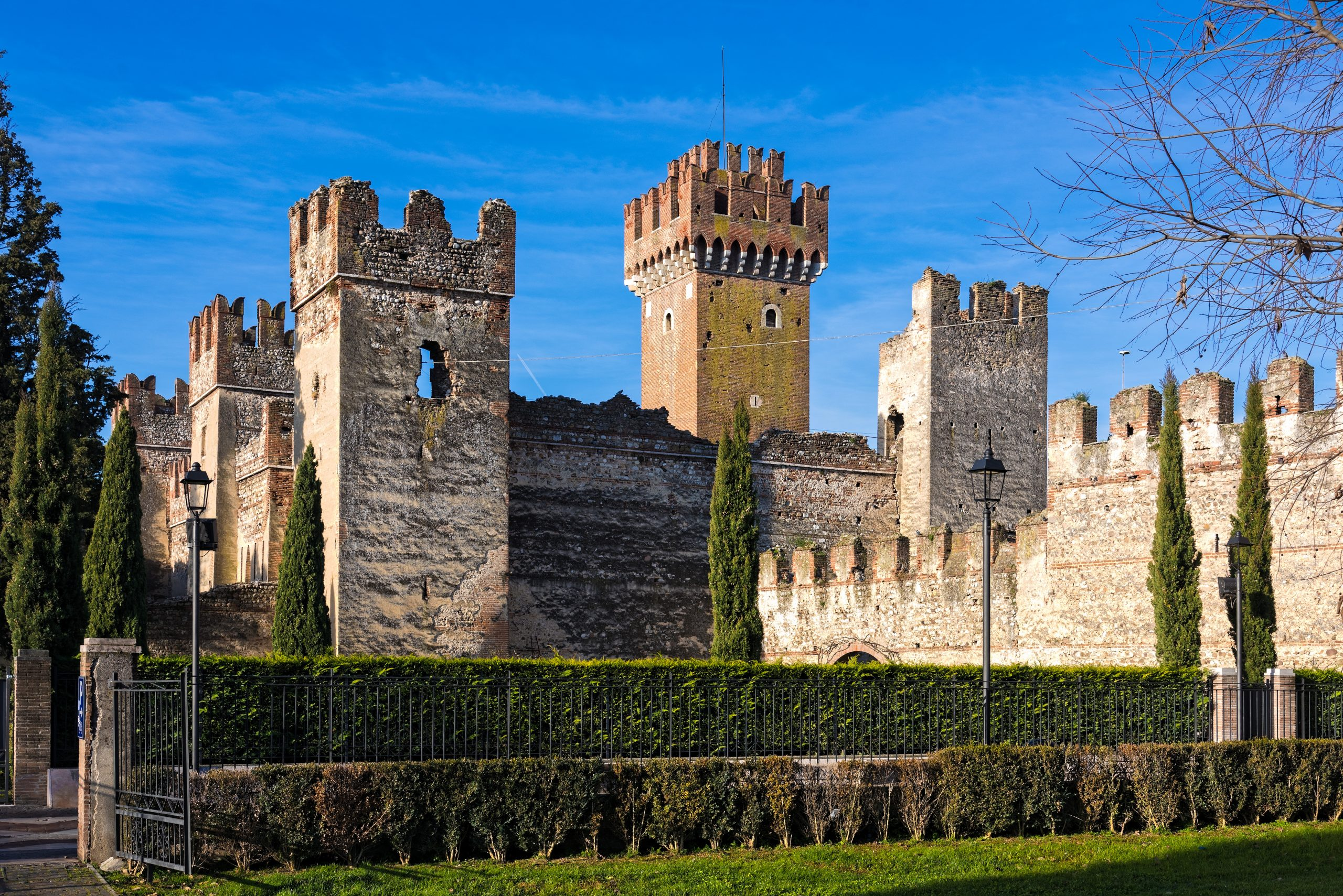 Part of the Scalier castle in Lazise, Italy